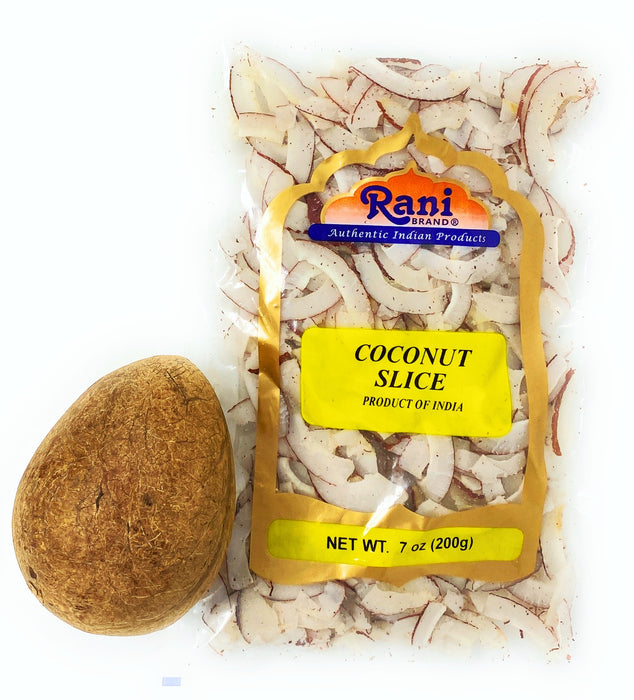 Rani Coconut (Copra) Sliced 7oz (200g) (uncooked, unsweetened) ~ All Natural | Vegan | Gluten Friendly