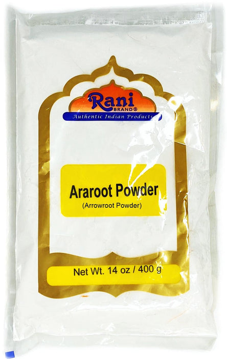 Rani Araroot (Arrowroot) Powder, Starch 14oz (400g) ~ All Natural | Gluten Free Ingredients | No Color | Vegan | NON-GMO
