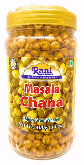 Rani Roasted Chana (Chickpeas) Masala Flavor 14oz (400g) ~ All Natural | Vegan | No Preservatives | No Colors Great Snack, ready to eat, seasoned with 7 spices, Indian Origin