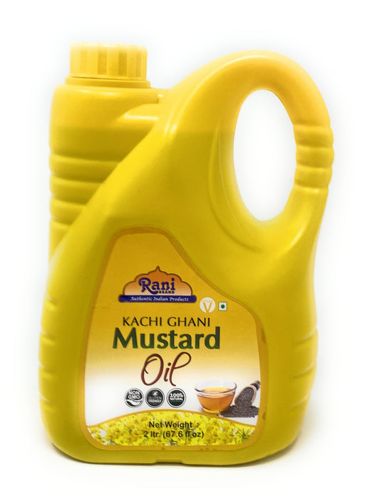 Rani Mustard Oil (Kachi Ghani) 67.6 Ounce (2 Liter) NON-GMO | Gluten Friendly | Vegan | 100% Natural