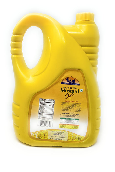 Rani Mustard Oil (Kachi Ghani) 169oz (5 Liter) NON-GMO | Gluten Friendly | Vegan | 100% Natural