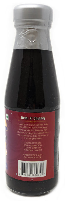 Rani Delhi Ki Chutney (Sweet, Sour & Spicy Dipping Sauce) 7oz (200g) Glass Jar, Ready to eat, Vegan ~ Gluten Free | NON-GMO | No Colors | Indian Origin
