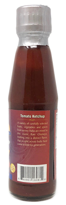 Rani Tomato Ketchup Sauce 7oz (200g) Glass Jar, Vegan ~ Gluten Free | NON-GMO | No Colors | Indian Origin