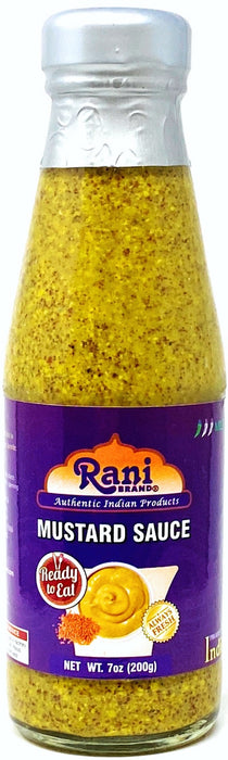 Rani Indian Mustard Sauce 7oz (200g) ~ All Natural, Glass Jar, Ready to eat, Vegan ~ Gluten Free | NON-GMO | Indian Origin