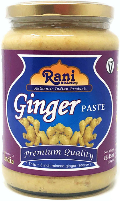 Rani Ginger Cooking Paste 26.45oz (750g) ~ Vegan | Glass Jar | Gluten Free | NON-GMO | No Colors | Indian Origin