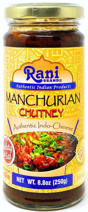 Rani Manchurian Chutney 8.8oz (250g) Glass Jar ~ No Colors | NON-GMO | Vegan | Gluten Free | Indian Origin
