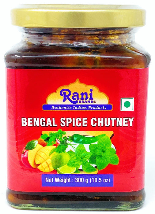 Rani Bengal Spice Mango Chutney (Indian Preserve) 10.5oz (300g) Glass Jar, Ready to eat, Vegan ~ Gluten Free Ingredients, All Natural, NON-GMO