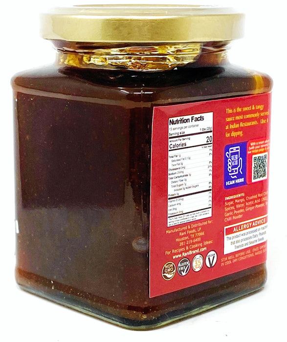 Rani Kashmiri Mango Chutney (Indian Preserve) 10.5oz (300g) Glass Jar, Ready to eat, Vegan ~ Gluten Free Ingredients, All Natural, NON-GMO