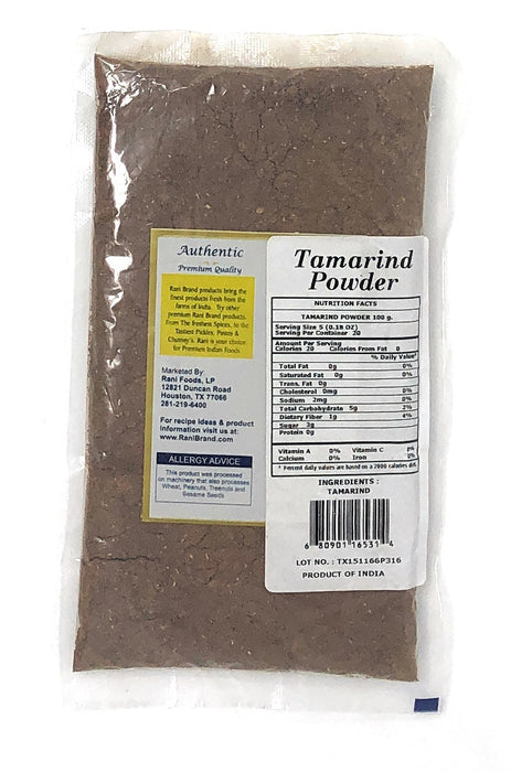 Rani Tamarind Powder (Imli) 3.5oz (100g) No added sugar/salt | Vegan | Gluten Free Ingredients | NON-GMO | Indian Origin
