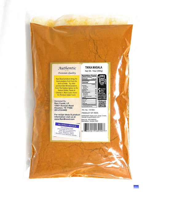 Rani Tikka Masala Indian 7-Spice Blend 14oz (400g) ~ All Natural, Salt-Free | Vegan | No Colors | Gluten Friendly | NON-GMO