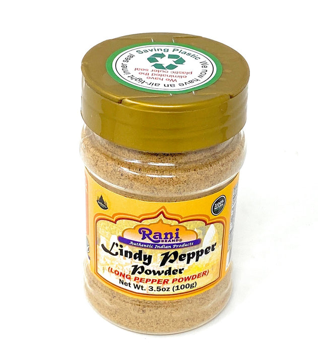 Rani Lindy Pepper Powder (Long Pepper, Piper Longum, Pipli) 3.5 Ounce (100g) ~ All Natural | Gluten Free Ingredients | NON-GMO | Vegan | Indian Origin