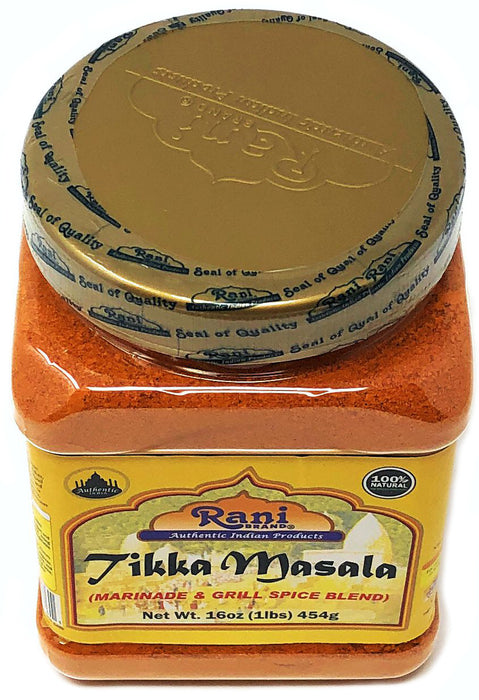 Rani Tikka Masala Indian 7-Spice Blend 16oz (454g) ~ All Natural, Salt-Free | Vegan | No Colors | Gluten Free Ingredients | NON-GMO