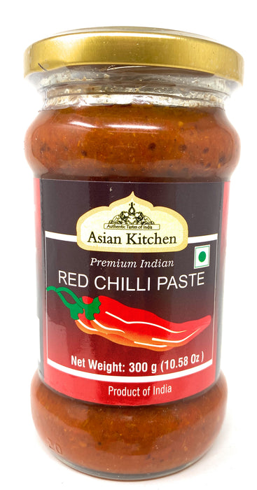 Asian Kitchen Red Chilli Cooking Paste 10.58oz (300g) ~ Vegan | Glass Jar | Gluten Free | NON-GMO | No Colors | Indian Origin