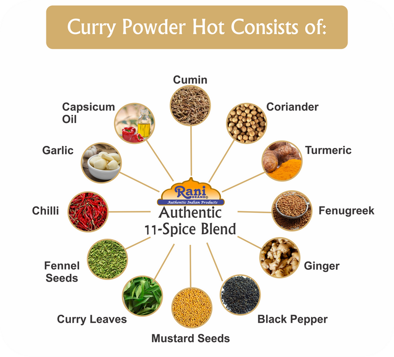 Rani Curry Powder Hot *BEST SELLER* {7 Sizes Available}