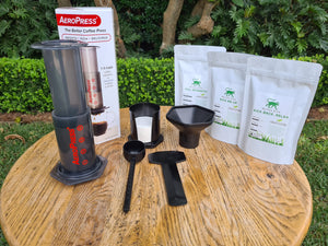 Intro to Home Brewed Coffee Pack (Aeropress + Sample Pack)