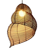 Lampe osier coquillage