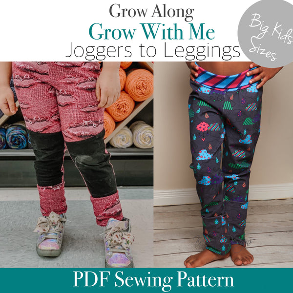 BIG KIDS Grow Along Pants (Joggers to leggings)