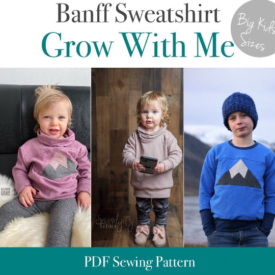 Big Kids Banff Grow With Me Sweatshirt Pattern