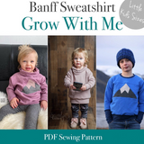 Little Kids Banff Grow With Me Sweatshirt Pattern