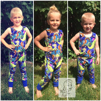 On The Grow Romper Snap on, Sleeveless, Romper- Little Kids Sizes