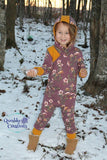 Little kids Grow On: Coverall Style Grow With Me Romper - PDF Apple Tree Sewing Pattern