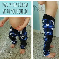 Little Kids Grow Along Pants: Grow with me joggers to leggings- PDF Apple Tree Sewing Pattern