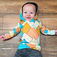 Color Blocked Hoodie Grow With Me Hoodie - All Sizes