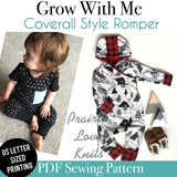 Grow On: Coverall Style Grow With Me Romper - Little Kids Sizes