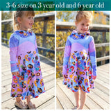 Hooded Dress Grow With Me Dress - Little Kids Sizes