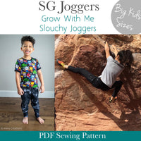 Big Kids SG Joggers- Grow With Me Slouchy Fit Joggers