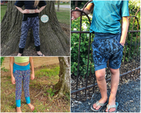 Big Kids Bunny Bottoms- Grow with Me Drop Crotch joggers- PDF Apple Tree Sewing Pattern