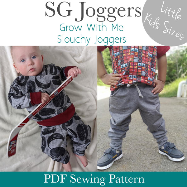 Little Kids SG Joggers- Grow With Me Slouchy Fit Joggers