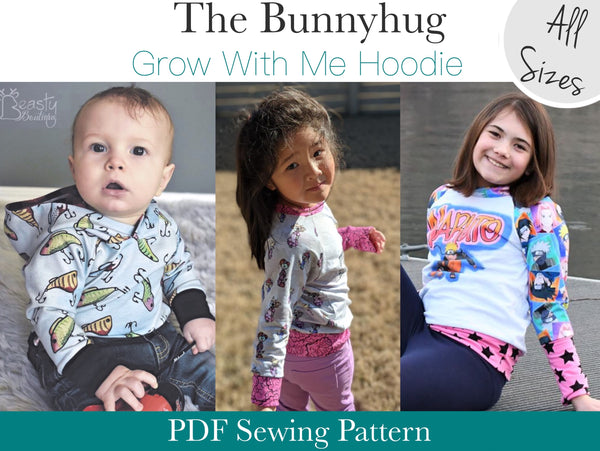 Bunnyhug Grow With Me Hoodie - All Sizes