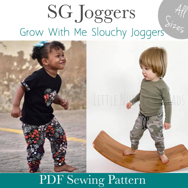 All Sizes SG Joggers- Grow With Me Slouchy Fit Joggers
