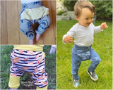 All sizes Bunny Bottoms- Grow with Me Drop Crotch joggers - PDF Apple Tree Sewing Pattern