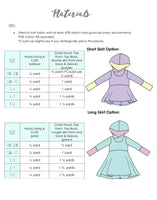 All Sizes Hooded Grow With Me Dress  - PDF Apple Tree Sewing Pattern