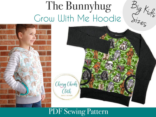 Bunnyhug Grow With Me Hoodie - Big Kids Sizes