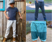 Big Kids Bunny Bottoms- Grow with Me Drop Crotch joggers