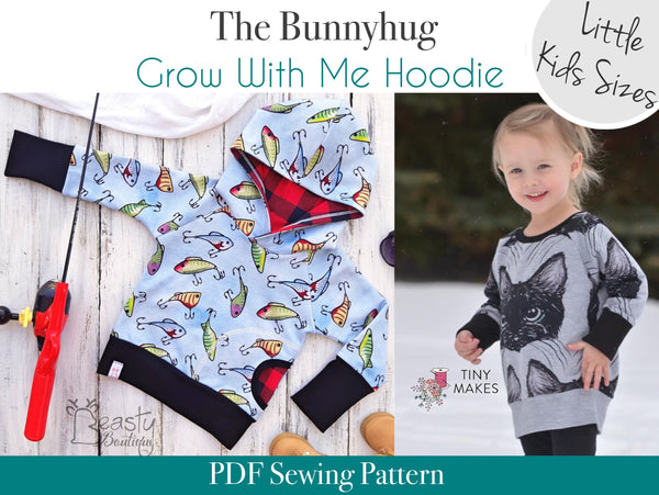 Bunnyhug Grow With Me Hoodie - Little Kids Sizes