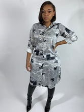 Load image into Gallery viewer, Headlines shirt dress