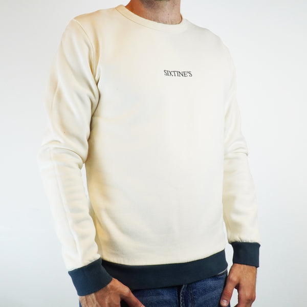 Two-tone cream with logo