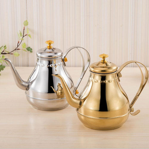 Silver/Gold Stainless Steel Teapot