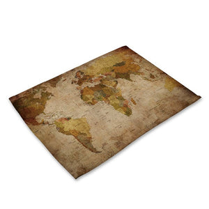 World Map Pattern Placemat