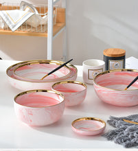 Load image into Gallery viewer, Pink Marble Ceramic Dish