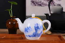 Load image into Gallery viewer, Blue and White Flower Porcelain Teapot