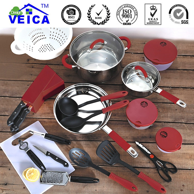 24 Pieces Cookware Set