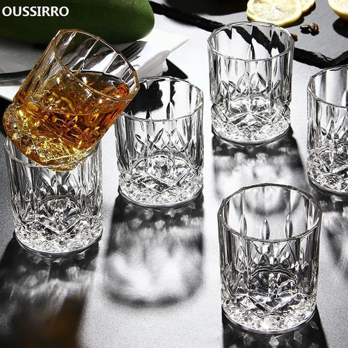 6pcs/set Crystal Whiskey Glass Cup