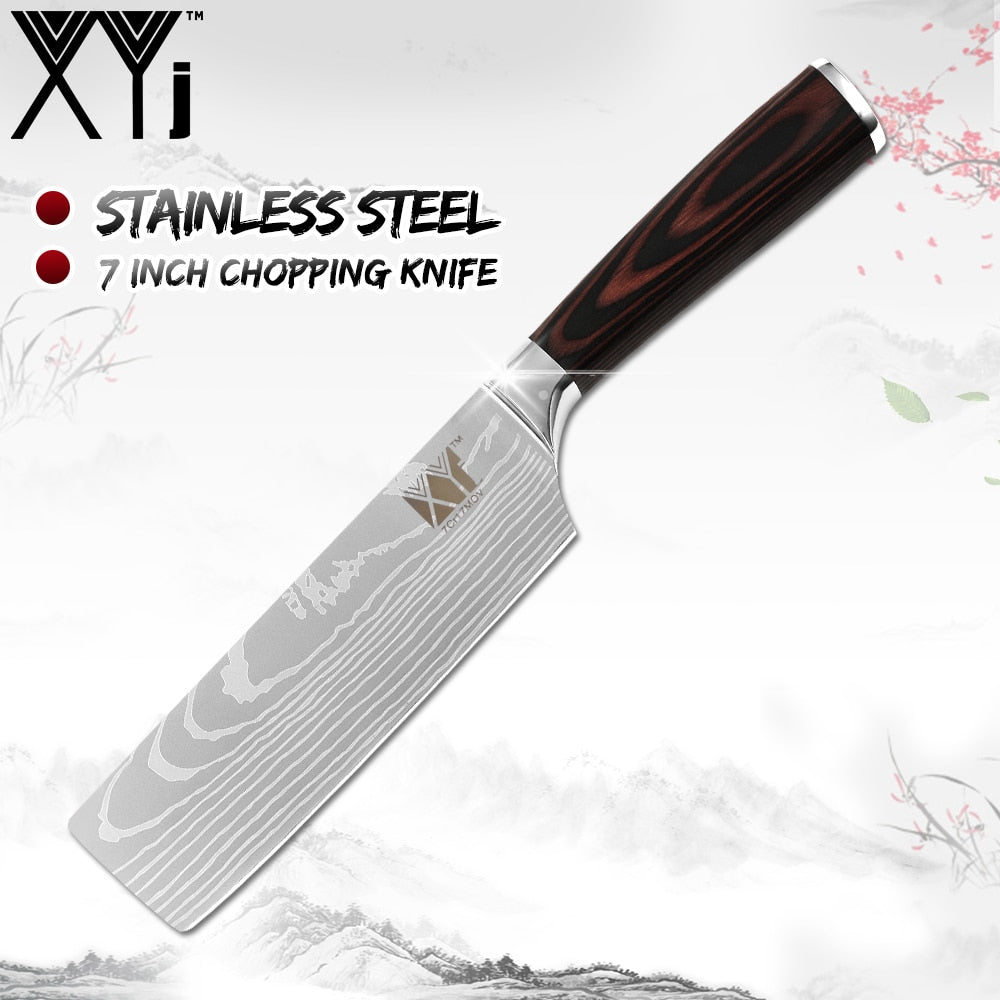 Stainless Steel Veins Pattern Knife