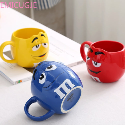 Cute Ceramic Colored M&M's Coffee Mug