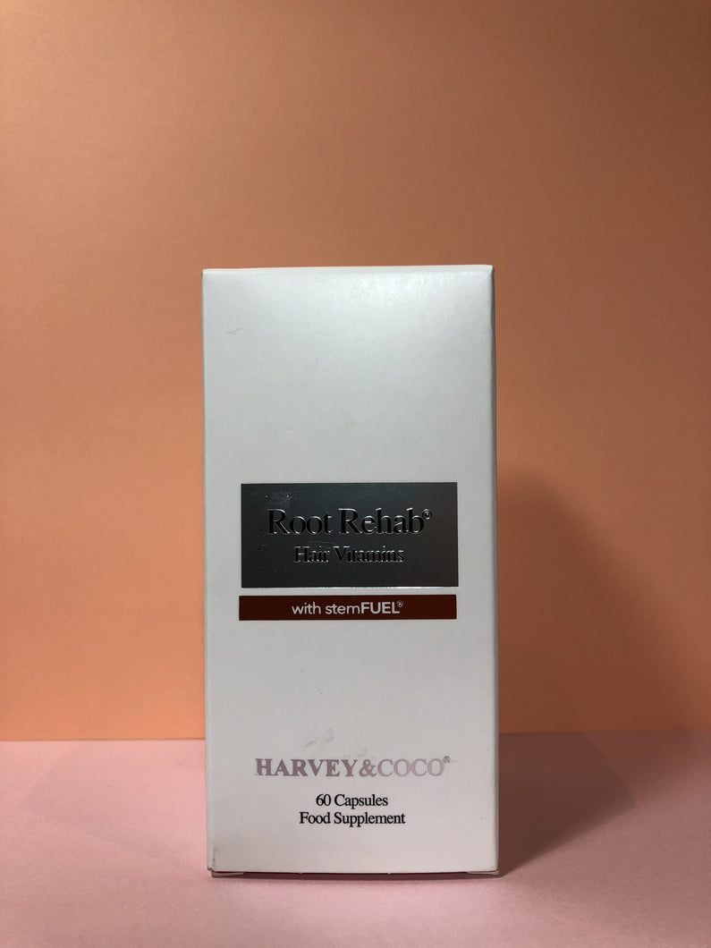 Harvey & Coco - Root Rehab Hair Vitamins - box